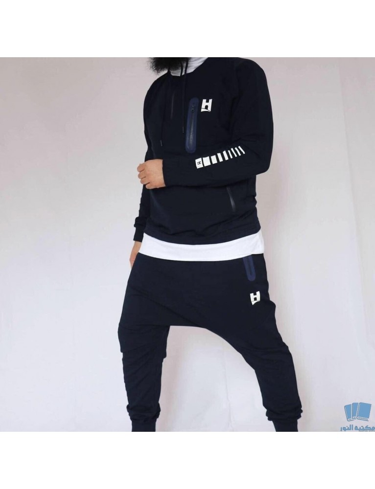 Ensemble Hebant Noir Sweat et Sarwel