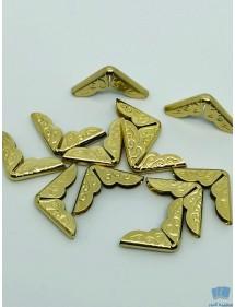 Lot de 10 Protecteurs en Métal Bronze pour les Coins de Livre